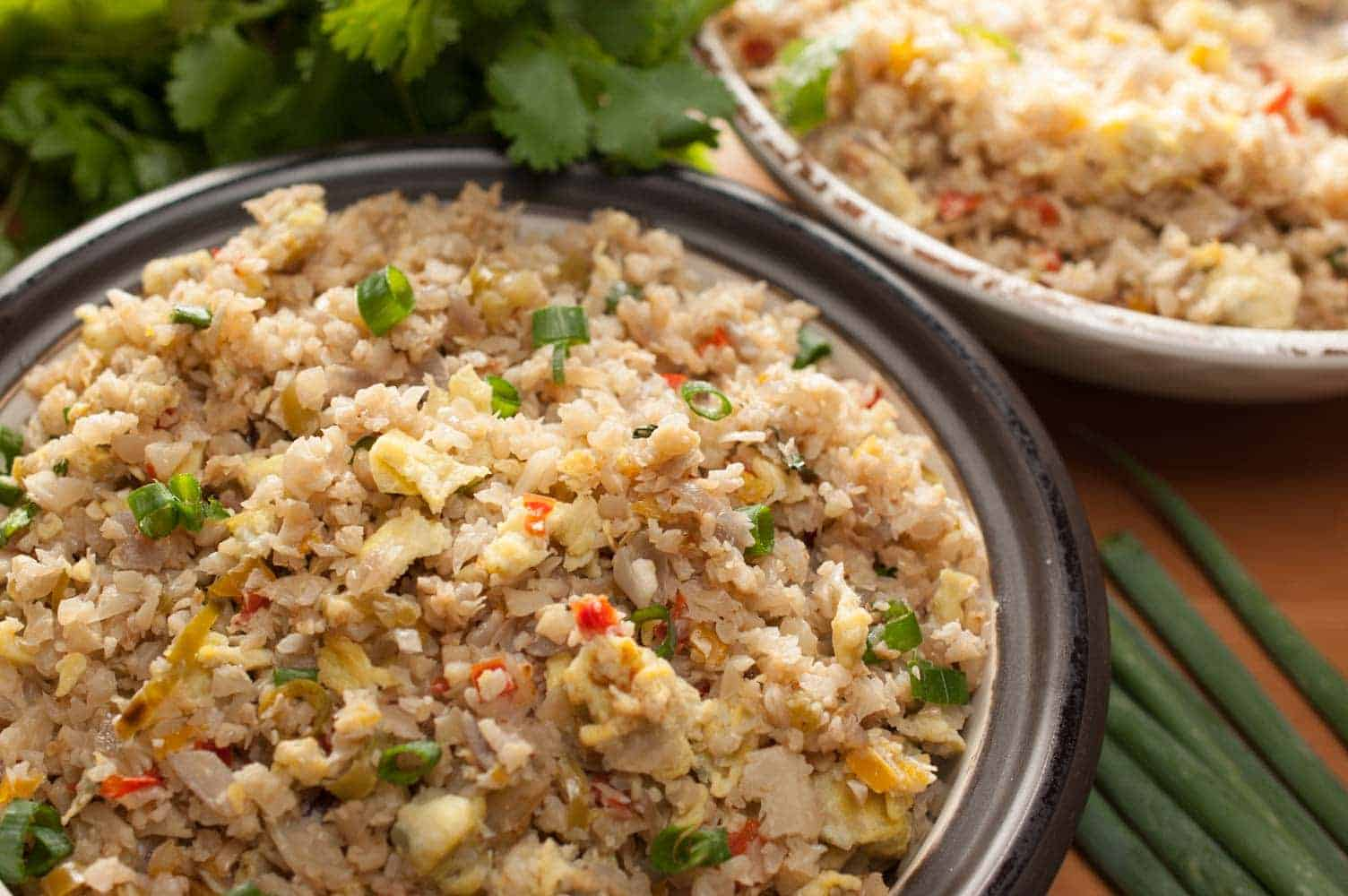 Cauliflower Rice Stir Fry with Eggs (Paleo, Keto, Gluten Free)