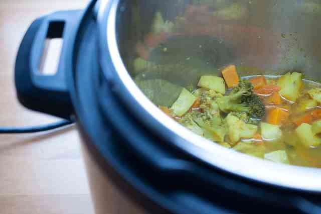 An easy and healthy mixed vegetable soup for babies, both infants, and toddlers. I introduced this cream of vegetable soup to my daughter Eva when she said goodbye to regular baby vegetable purees and started craving for more flavored food. You can start feeding this soup from 8 months onwards.