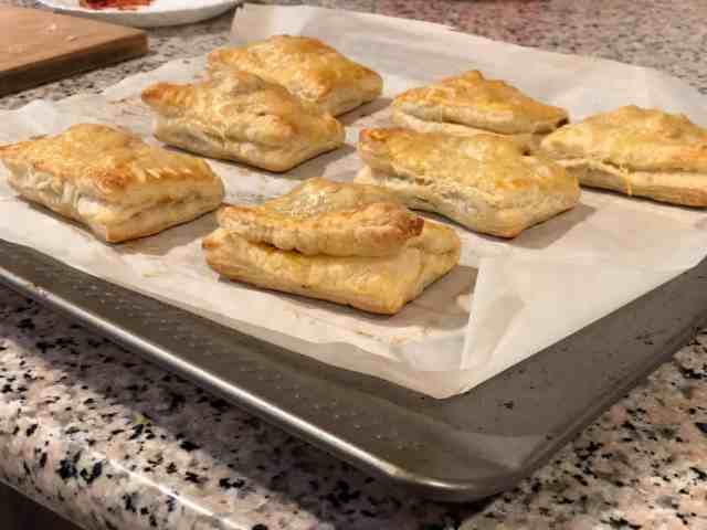 This is an image of baked puffs