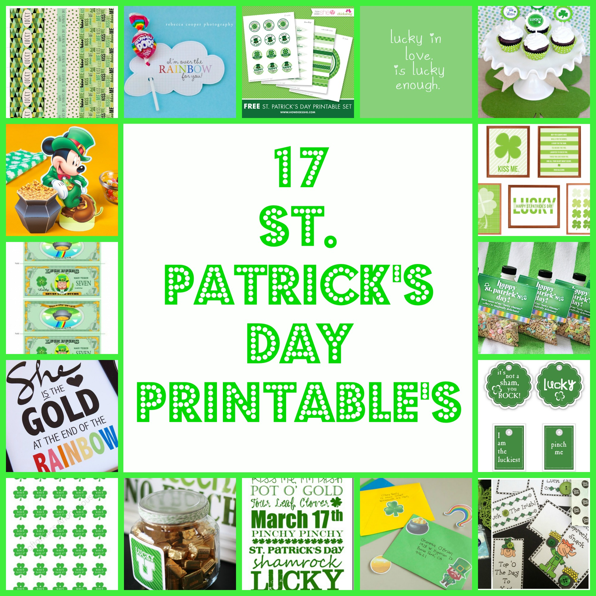 17 St Patrick S Day Printable S