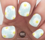 spring daisy nail art tutorial
