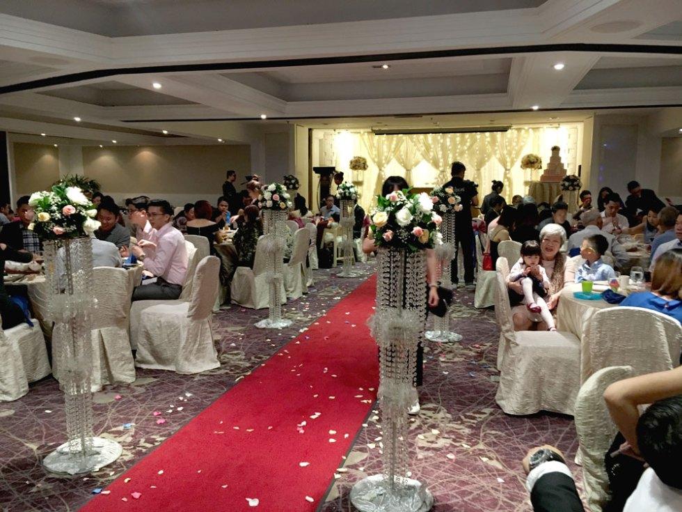 Marina Mandarin Vanda ballroom wedding