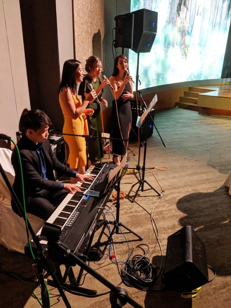 Capella Sentosa Ballroom Wedding corporate events Live music band emcee singer