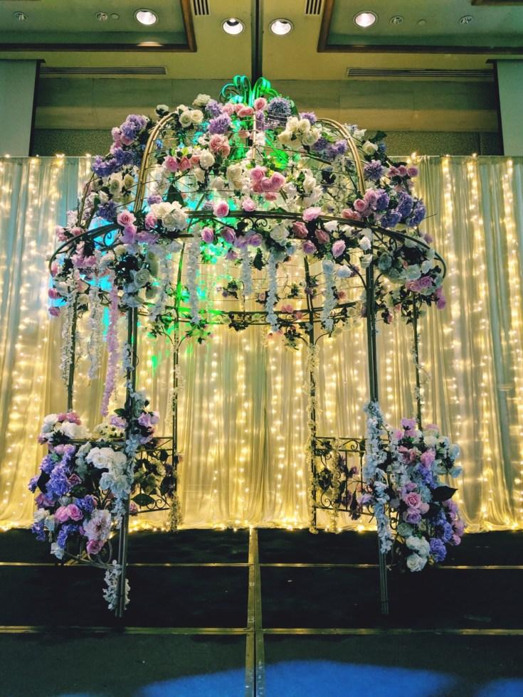 Grand Copthorne Waterfront Wedding Stage Ballroom Decor