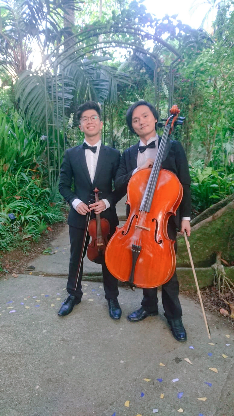 Singapore Wedding String Duo Violin Cello