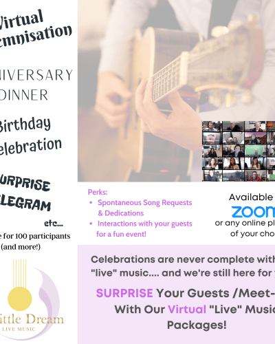 zoom live band music wedding event celebration virtual solemnisation