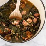 Collard greens with smoked turkey
