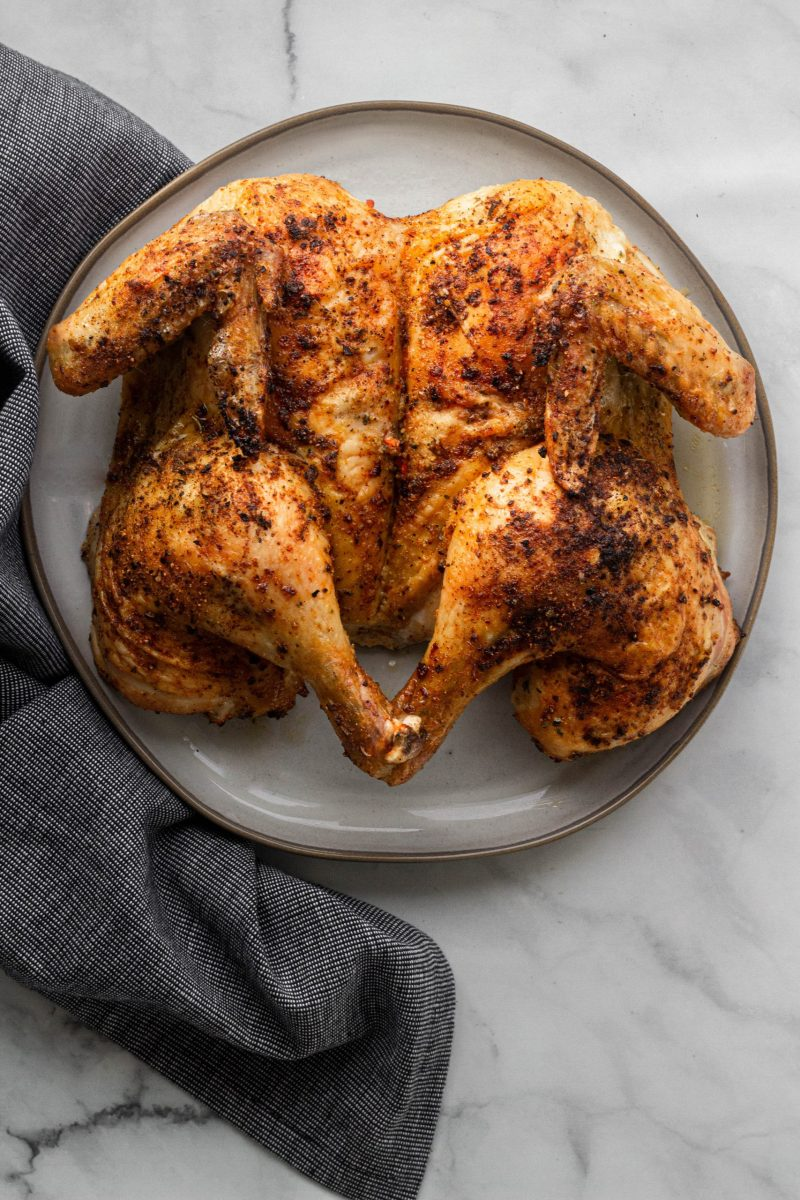 Spatchcocked (Butterflied) Roasted Chicken | A Little Food