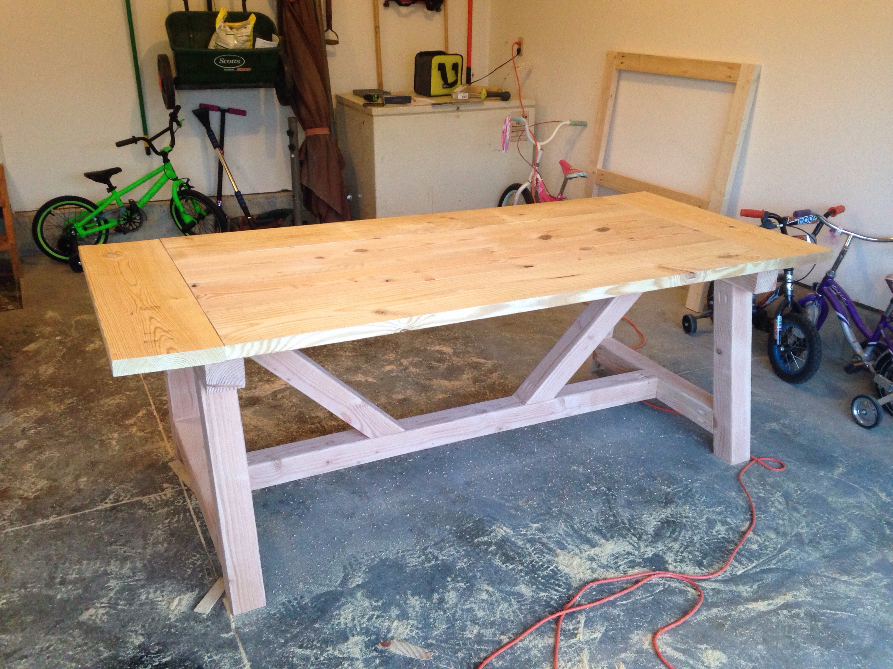 The Table Came Together Quickly But Sanding And Staining Took Quite Awhile!