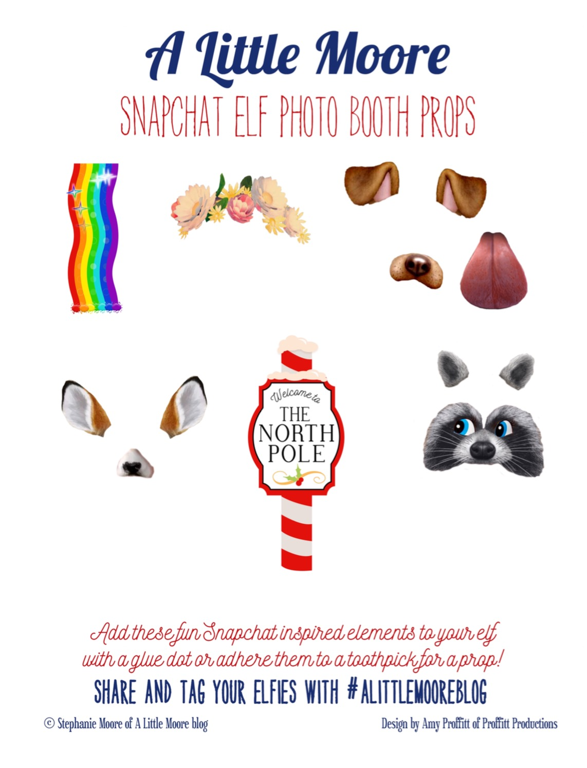 photograph regarding Elf on the Shelf Printable Props titled Elf upon the Shelf Free of charge Snapchat Filters - A Very little Moore