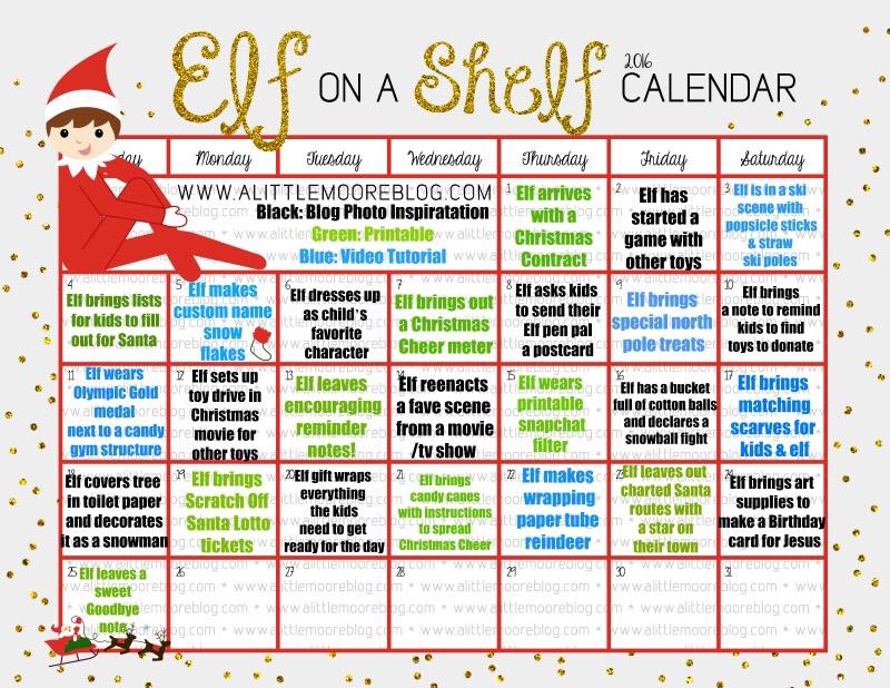 2016 Elf on the Shelf Calendar