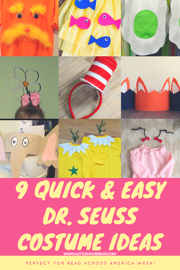 Nine Quick And Easy Dr Seuss Costumes For Kids A Little Moore