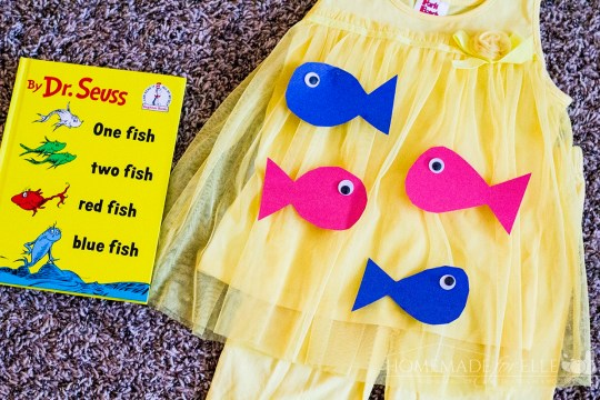 Nine quick and easy dr seuss costumes for kids a little for One fish two fish costume