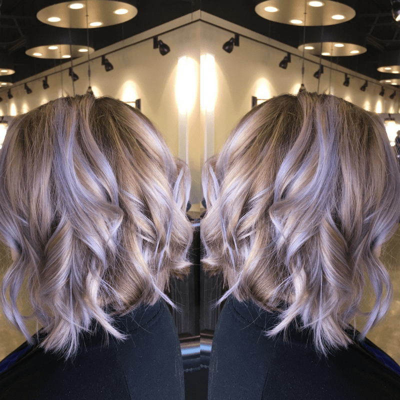 Smoky lavender hair color transformation a little moore for Absolutely you salon