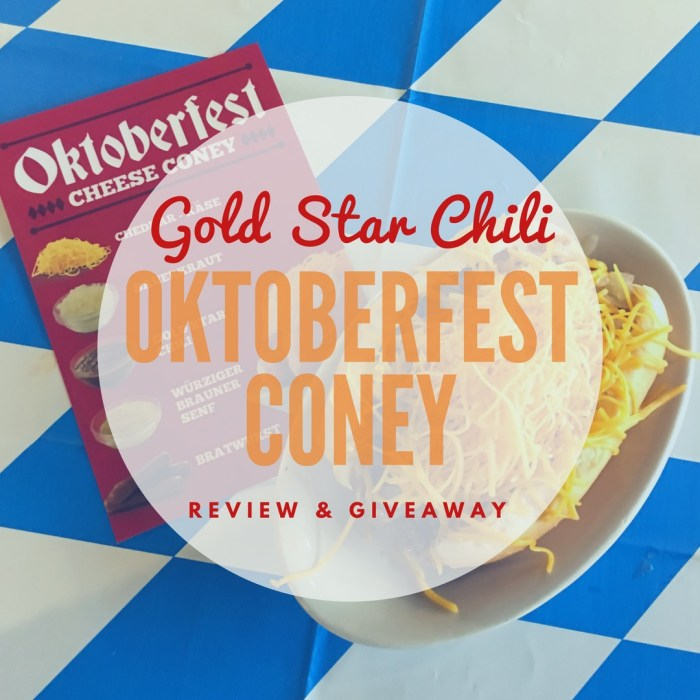 Gold Star Chil Oktoberfest Coney Review & Giveaway