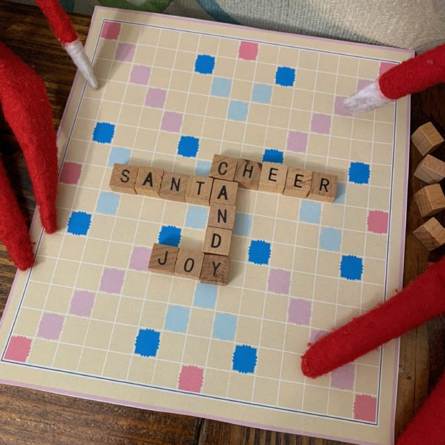 Elf On The Shelf Printable Scrabble Board With Tiles A