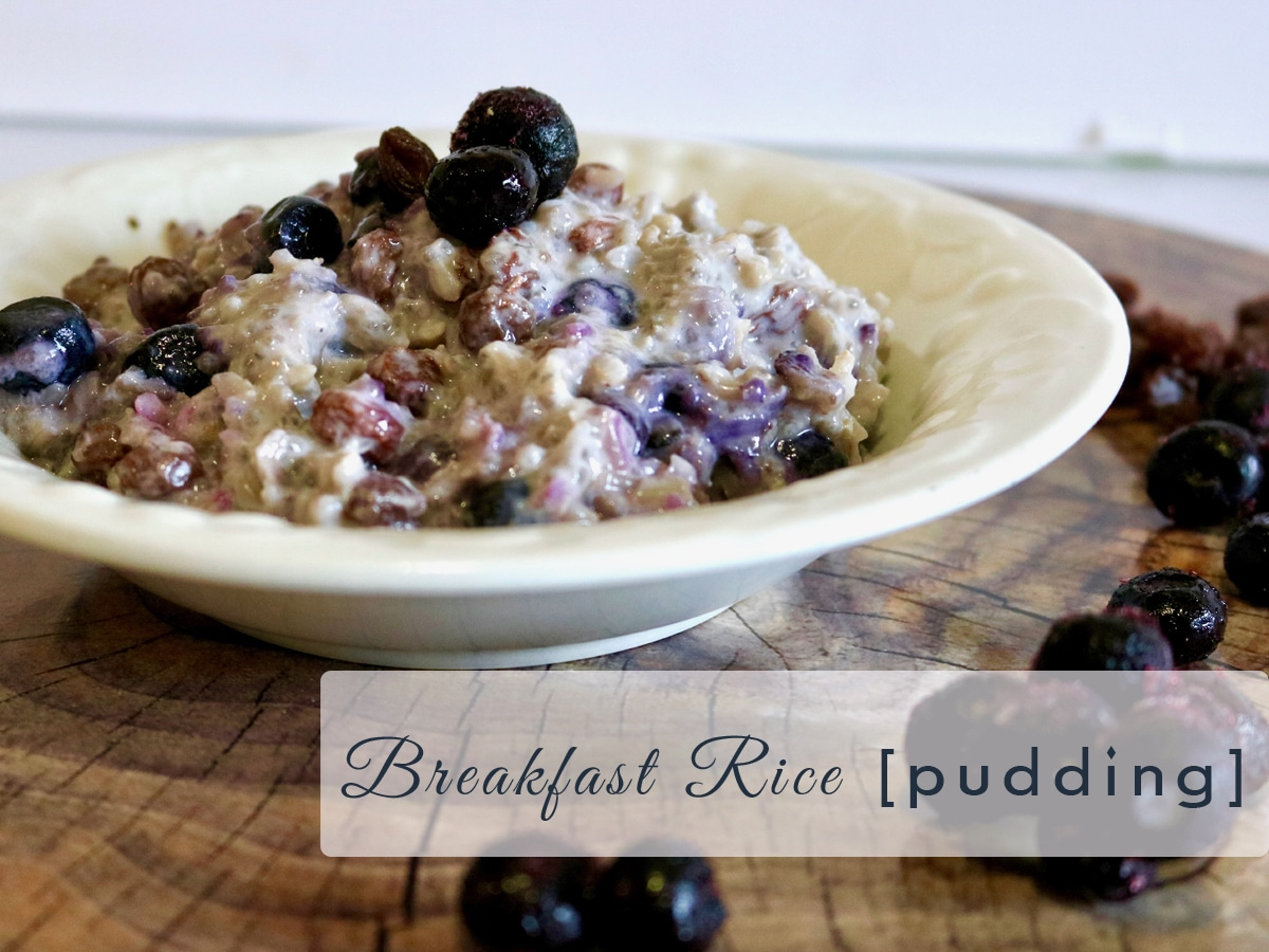 High Protein Breakfast Rice Pudding A Little Nutrition