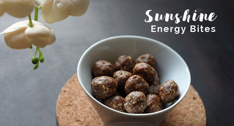 Sunshine energy bites by Winnipeg Dietitians