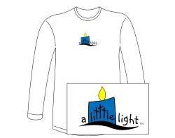 Men's A Litttle Light Long Sleeve Tee – Blue Logo