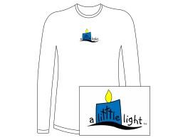 Women's A Litttle Light Long Sleeve Tee – Blue Logo