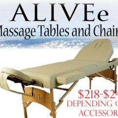 Chair Massage Accessories Hanging Jakarta Renew Life With Alivee Tables And Chairs Salon Portable