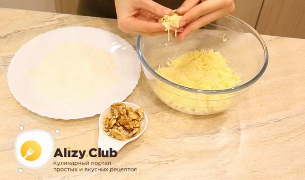 Ірімшік шарларын терең қуырғышта дайындауға арналған рецепт бойынша ақуыздар