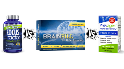 Prevagen vs Focus Factor Vs BrainPill Review by Alizyme