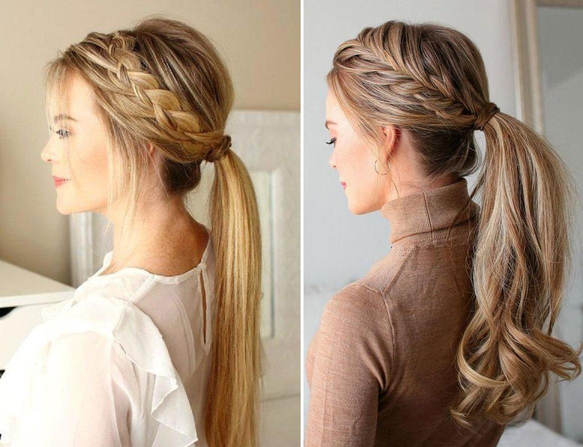 تسريحة شعر طويل موديلات شعر بسيطة للحفلات
