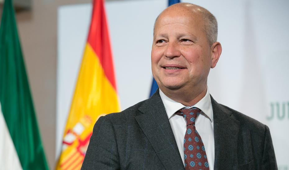 Javier Imbroda, consejero de Educación de la Junta de Andalucía. Foto de la Junta de Andalucía.