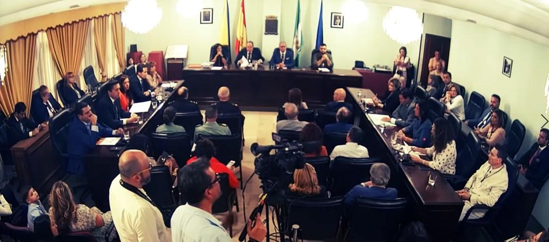 Salón de plenos en San Juan de Aznalfarache