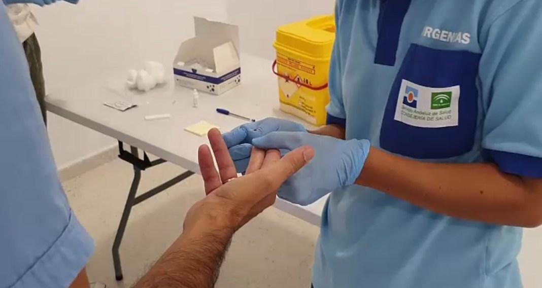 Test de coronavirus realizados en Bormujos. Foto de Aljarafe Digital.
