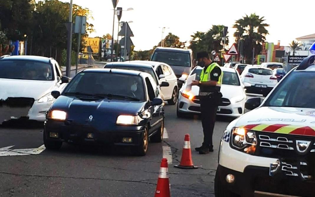 Control de cierre perimetral en Sanlúcar la Mayor.