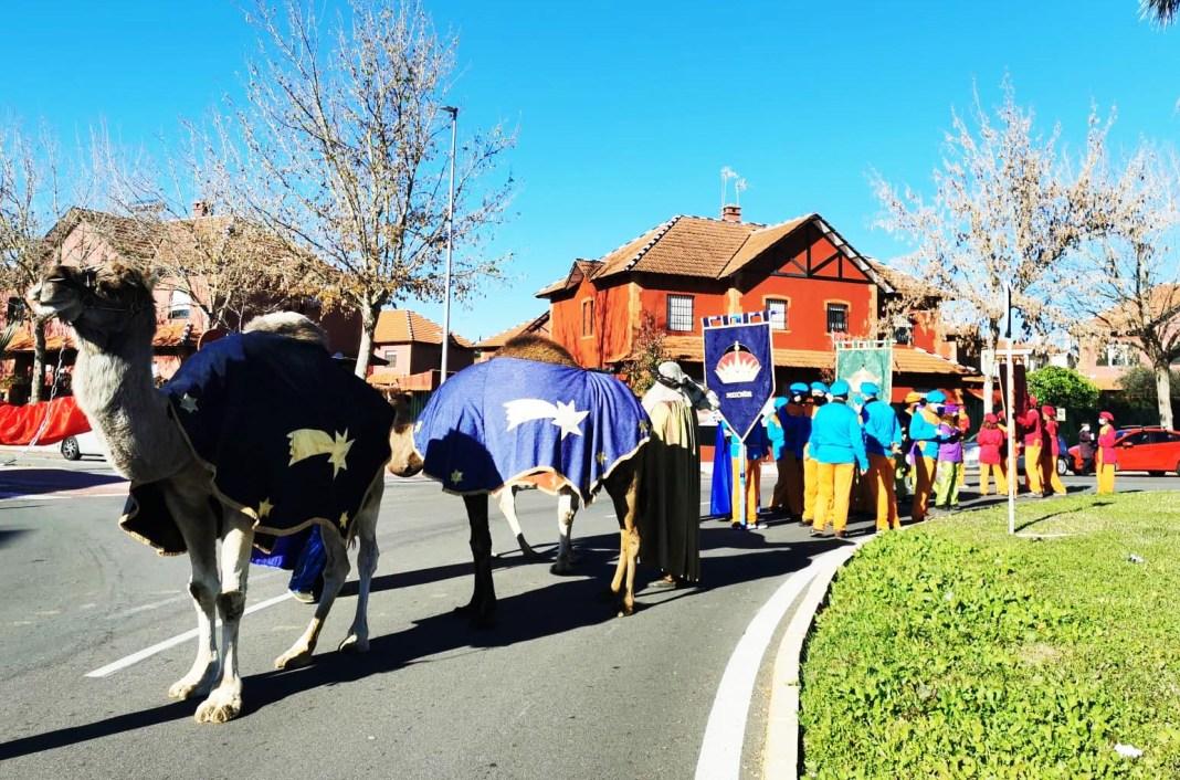 Los Reyes Magos llegan a la acampada de Bormujos donde permanecerán hasta el 5 de enero. Foto: Ayto. Bormujos.