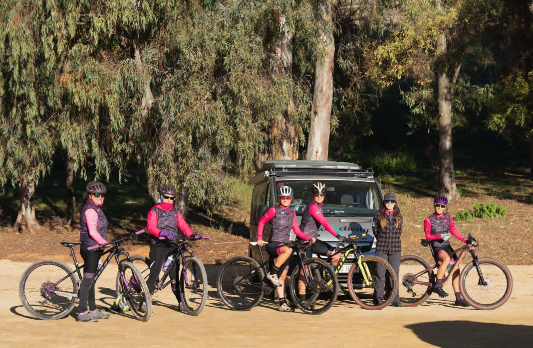 Integrantes del grupo Kanina Woman Bikes