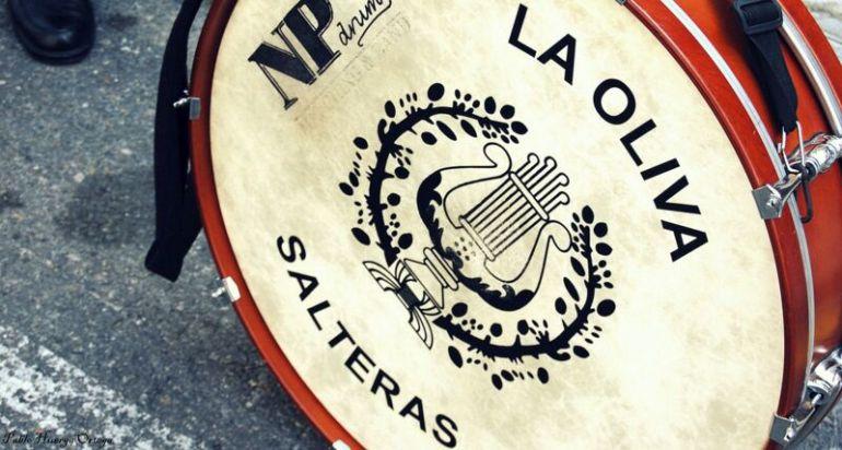 Bombo de la Sociedad Filarmónica Nuestra Señora de La Oliva de Salteras. Foto de Olivas Salteras.