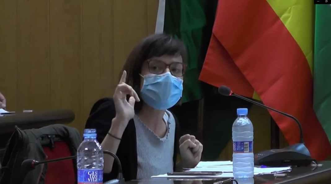 Laura Pérez durante un Pleno municipal.