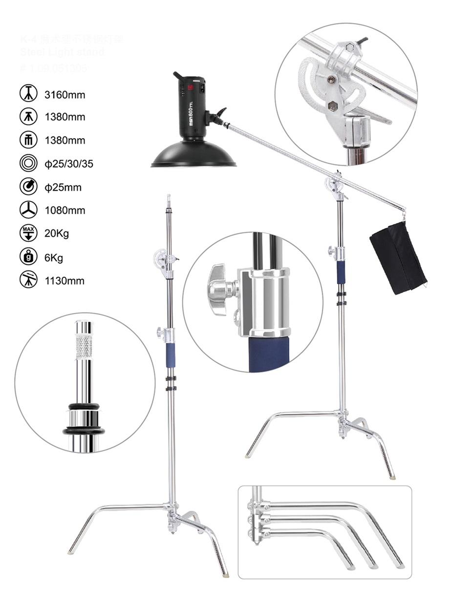 hight resolution of steel light stand k4