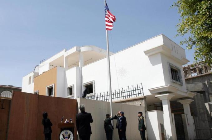Afbeeldingsresultaat voor US Embassy in Tripoli