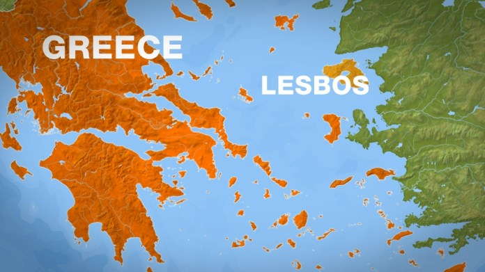 lesbos greece map