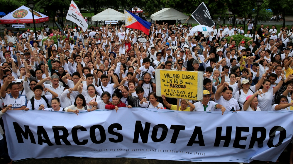 Image result for protests against martial law, philippines, photos