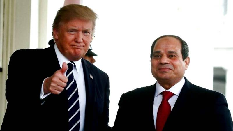 Image result for sisi and trump