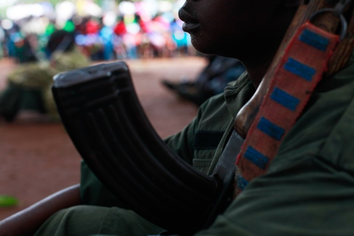 According to the UN, there are still around 19,000 children serving in armed forces across South Sudan. [Andreea Campeanu/Al Jazeera]