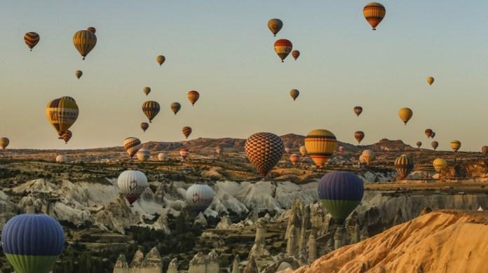 Photos: Hot air balloons ride over Turkey's iconic Cappadocia