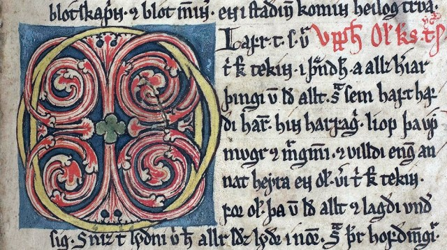 This handout photo from June 30, 2009 and made available by the University of Copenhagen on November 8, 2019 shows an Icelandic medieval manuscript of the Arnamagnaean Collection at the University of