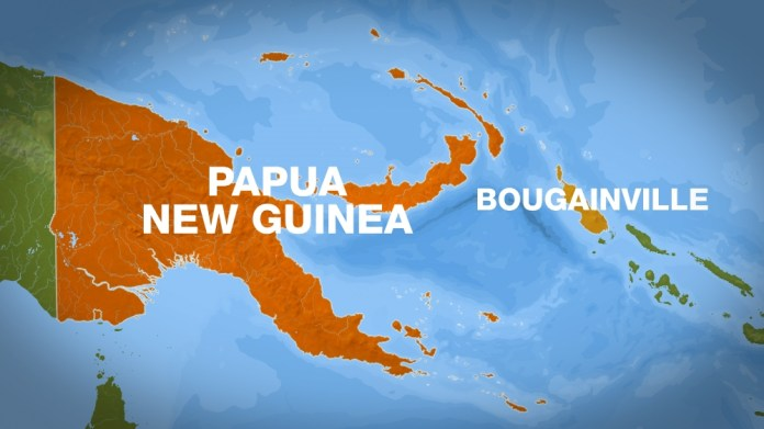 map Papua New Guinea Bougainville islands