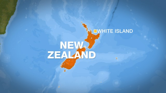 White Island map in New Zealand
