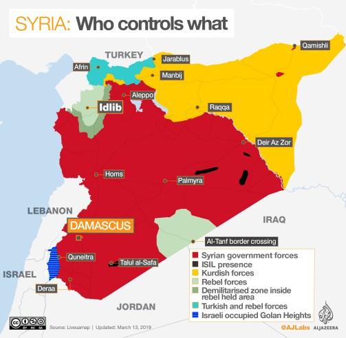 Αποτέλεσμα εικόνας για syrian civil war rebels places