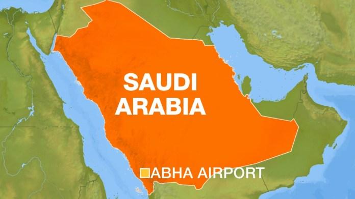 Abha airport map, Saudi Arabia