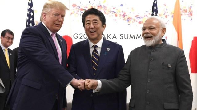 Trump, Abe and Modi at G20