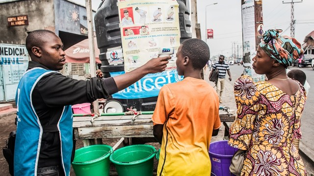 A boy has his temperature checked in Goma on July 31, 2019. - A second person has died of Ebola in the eastern DR Congo city of Goma, a major transport hub, the country's pointman for the epidemic tol